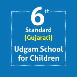 Standard 6 UDGAM School For Children Textbooks & Notebook Set Optional Language Gujarati (Notebooks with covering)