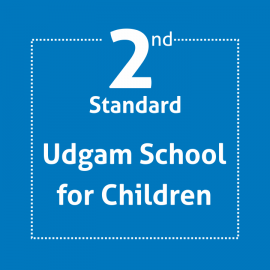 Standard 2 UDGAM School For Children Textbook and Notebook Set (With Binding & Covering)