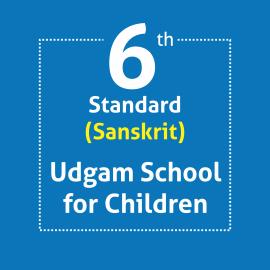 Standard 6 UDGAM School For Children Textbooks & Notebook Set Optional Language Sanskrit (Notebooks with Covering)