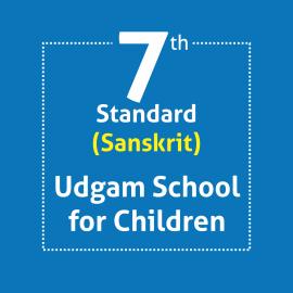Standard 7 UDGAM School For Children Textbooks & Notebook Set Optional Language Sanskrit (Notebooks with Covering)