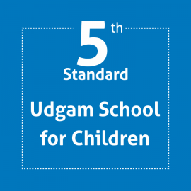 Standard 5 UDGAM School For Children Textbooks & Notebook Set (With Binding & Covering) Except English Grammar