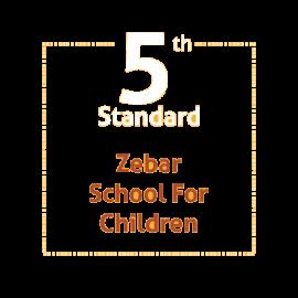 Standard 5 Zebar School For Children Textbooks and Notebooks Set (Notebook with Binding)