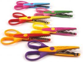 6 Pieces Art and Craft Zig zag Paper Shaper Scissor Set