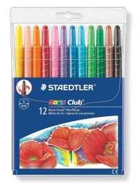 Staedtler 221 NWP12 Noris Club Twistable Wax Crayon Set - Pack of 12
