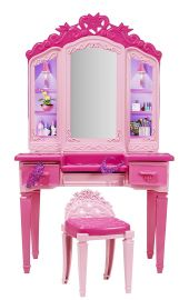 Barbie Princess Power Superhero Vanity Playset & Barbie Doll, Multi Color