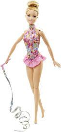 Barbie Ribbon Gymnast Doll, Pink