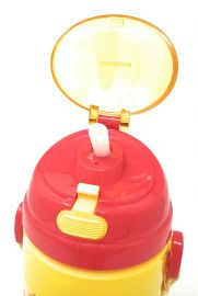 Disney, Marvel & Dora & Motu Patlu Character Push Button Double Wall Sipper Water Bottle, 600ml (Belle Princess)