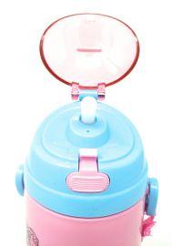 Disney, Marvel & Dora & Motu Patlu Character Push Button Double Wall Sipper Water Bottle, 600ml (Cinderella Princess)