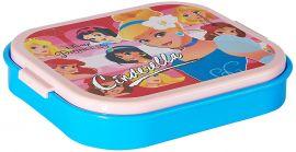 Disney Cinderella Plastic Lunch Box Set, 660ml, 3-Pieces, Pink/Blue