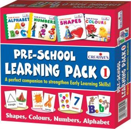 Creative Educational Aids 1007 Pre - School Learning Pack 1 (Shapes, Colours, Numbers and Alphabet)