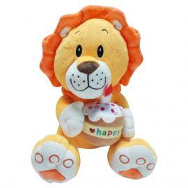 Cute Lion with Cupcake Plush