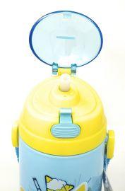 Disney, Marvel & Dora & Motu Patlu Character Push Button Double Wall Sipper Water Bottle, 600ml (Donald Duck)