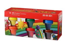 Faber-Castell Modelling Dough - Pack of 6