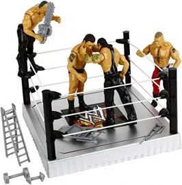 Flexforce 4 WWE Wrestling Action Figures Toy for Kids with Fight Ring and Accessories