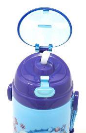 Disney, Marvel & Dora & Motu Patlu Character Push Button Double Wall Sipper Water Bottle, 600ml (Frozen Sisters)