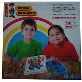 Imagi Builder Mosaic Puzzle - Mushroom Designs