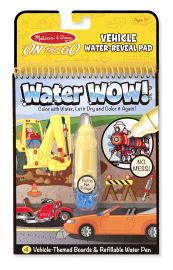 Melissa and Doug Water Wow Coloring Book Vehicles