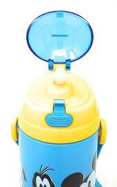 Disney, Marvel & Dora & Motu Patlu Character Push Button Double Wall Sipper Water Bottle, 600ml (Mickey Mouse)