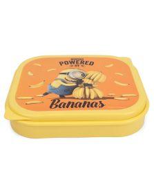 Minion Yellow Mega Plastic Lunch Box Set, 3-Pieces, Yellow