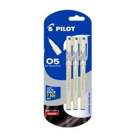 Pilot Hi-Techpoint 05 Super Value Pen - Pack of 3, Blue