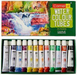 Camlin Kokuyo Student Water Color Tube - 5ml each, 12 Shades