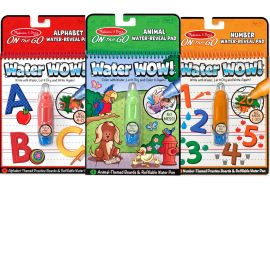Melissa & Doug On the Go Water Wow Activity Book, Animals, Alphabet and Numbers, Multi Color