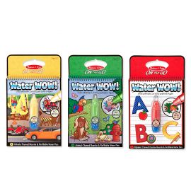 Melissa and Doug on the Go Water Wow animal, alphabet and vehicle , Multi Color
