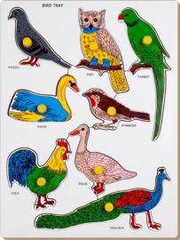 Little Genius Bird - Parrot Tray with Knob