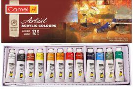Camlin Kokuyo Artist Acrylic Color Box - 9ml Tubes, 12 Shades