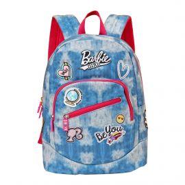 Barbie Girl Blue Canvas School Bag 44 Cm
