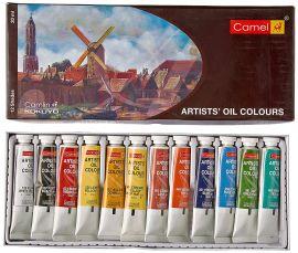 Camlin Kokuyo Artist's Oil Colour Box - 20 ml tubes, 12 Shades
