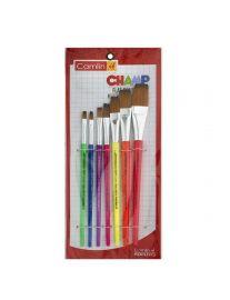 Camlin Champ Flast Brush Set - Pack of 7