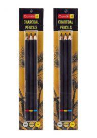 Camlin Kokuyo Medium/Soft/Hard Charcoal Pencils Set of 2 Pack
