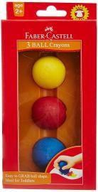 Faber-Castell Kindergarten Ball Crayons - Pack of 3 (Assorted)