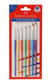 Faber-Castell Tri-Grip Brush - Round, Pack of 7