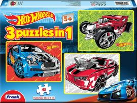 Hotwheels 3 Puzzles In 1