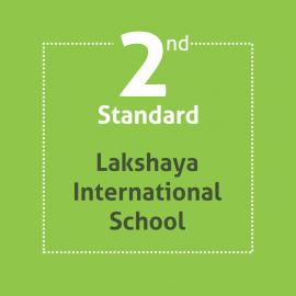 Standard 2 Lakshaya International School Textbooks and Notebooks Set