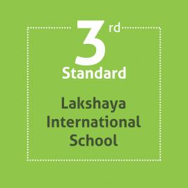 Standard 3 Lakshaya International School Textbooks and Notebooks Set