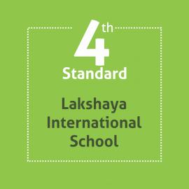 Standard 4 Lakshaya International School Textbooks and Notebooks Set