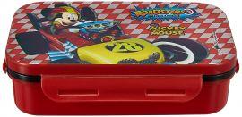 Disney Mickey Mouse Plastic Lunch Box Set, 3-Pieces, Multicolour (HMRPLB 20327-MK)
