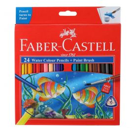 Faber-Castell Water Color Pencils with Paint Brush - Pack of 24